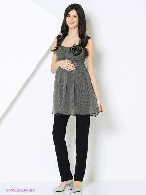 Блуза Livaa. Цвет: серый