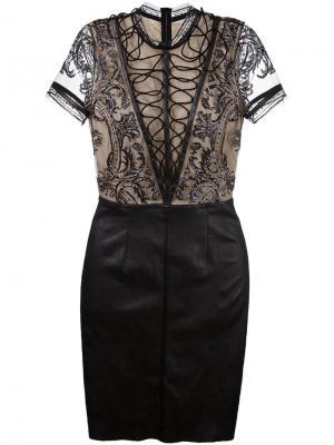 Платье Queen Jitrois. Цвет: чёрный
