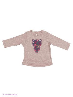 Лонгслив United Colors of Benetton. Цвет: бледно-розовый, кремовый, хаки