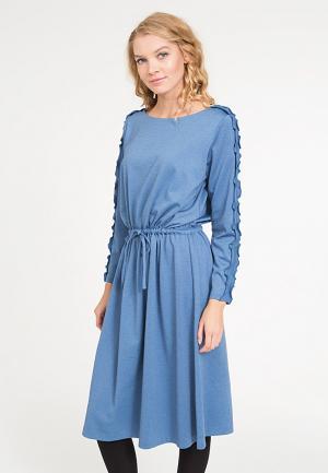 Платье Yaroslavna. Цвет: голубой