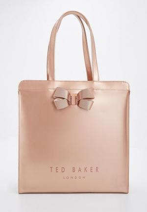 Сумка Ted Baker London. Цвет: золотой