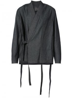 Куртка-рубашка в стиле кимоно Siki Im. Цвет: чёрный
