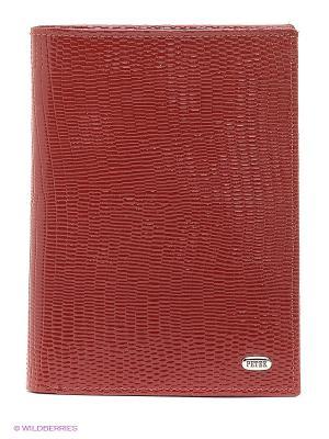 Портмоне-обложка Petek. Цвет: темно-красный