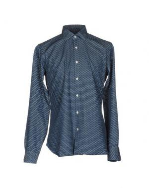 Джинсовая рубашка DANDYLIFE BY BARBA. Цвет: синий