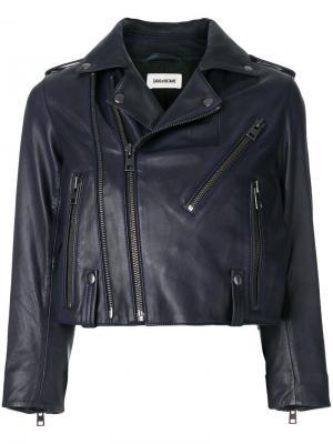 Укороченная байкерская куртка Liyo Zadig & Voltaire. Цвет: синий