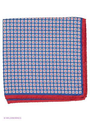 Платок-паше Troy collezione. Цвет: синий, красный, белый