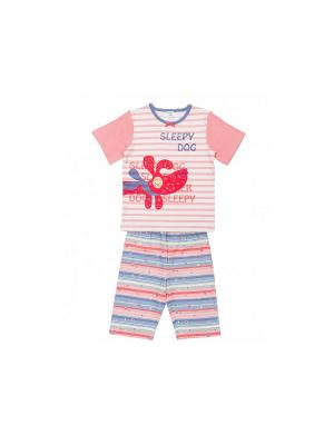Пижама Модамини. Цвет: бледно-розовый, синий