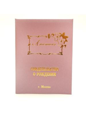 Именная обложка для свидетельства о рождении Анастасия г.Москва Dream Service. Цвет: розовый