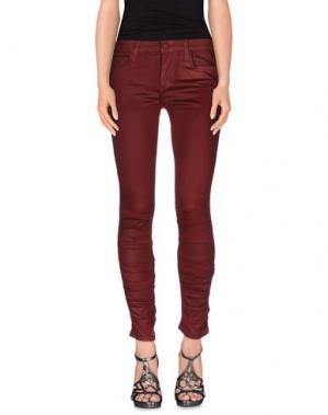 Джинсовые брюки JOE'S JEANS. Цвет: красно-коричневый