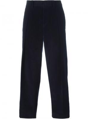 Вельветовые брюки E. Tautz. Цвет: синий