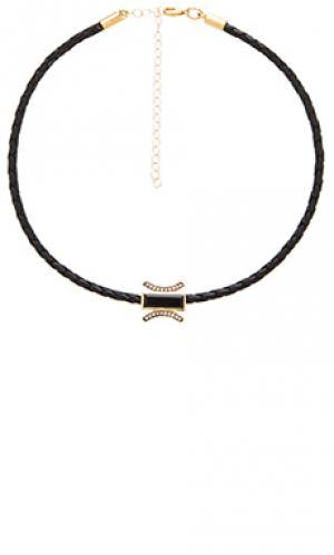Ожерелье braided choker Jacquie Aiche. Цвет: черный