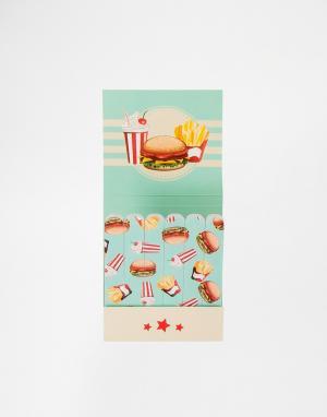 Beauty Extras Мини-пилочки для ногтей Fast Food. Цвет: черный