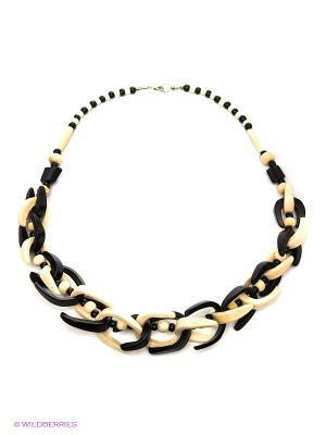 Ожерелье ГАНГ. Цвет: черный, молочный