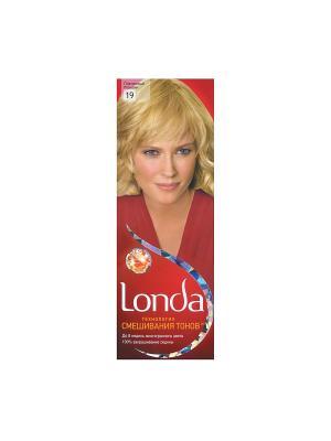Крем-краска для волос стойкая 19 Платиновый блондин LONDA. Цвет: красный