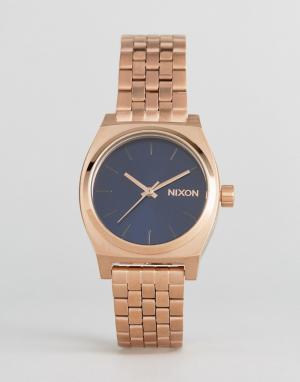 Nixon Часы оттенка розового золота Time Teller. Цвет: золотой