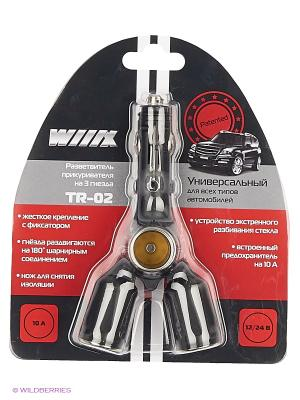 Разветвитель прикуривателя на 3 гнезда TR-02* WIIIX Premium line. Цвет: черный