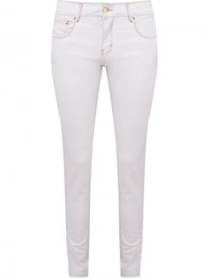Skinny trousers Amapô. Цвет: белый