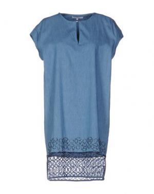 Короткое платье KORALLINE. Цвет: синий