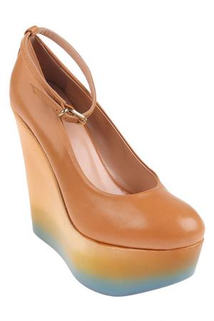 Туфли MSGM. Цвет: коричневый