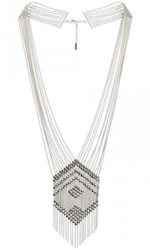 Ожерелье liquid SunaharA. Цвет: металлический серебряный