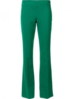 Расклешенные брюки Trina Turk. Цвет: зелёный