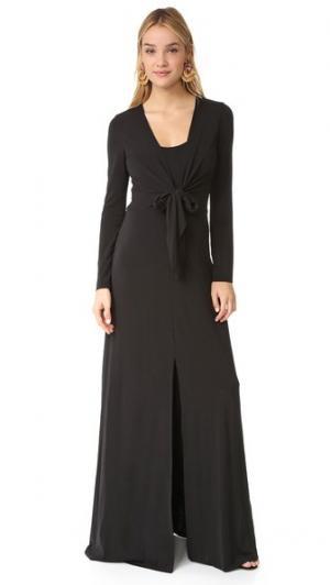 Вечернее платье Salina с длинными рукавами alice + olivia. Цвет: голубой