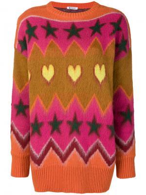 Жаккардовый свитер Dondup. Цвет: многоцветный
