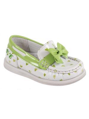 Детская обувь TIFLANI. Цвет: салатовый, белый