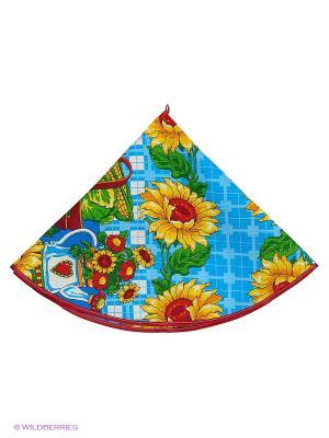 Полотенце круглое Метиз. Цвет: голубой