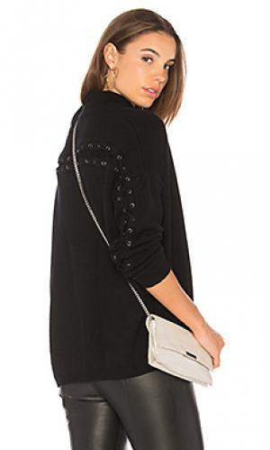 Лонгслив с высоким воротником laced back Autumn Cashmere. Цвет: черный