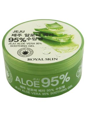 Многофункциональный гель для лица и тела с 95% содержанием Aloe Royal Skin 300 мл.. Цвет: зеленый