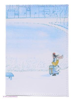Обложка для автодокументов Путь домой Mitya Veselkov. Цвет: голубой, белый, зеленый