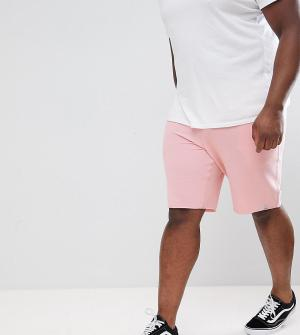 Jack & Jones Трикотажные шорты Originals PLUS. Цвет: розовый
