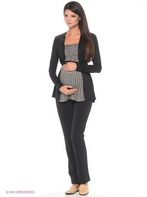 Блузка для беременных 40 недель. Цвет: голубой, коричневый, черный