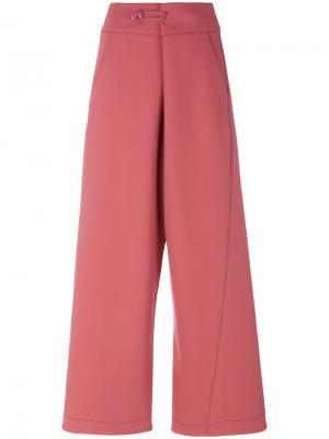 Строгие брюки клеш Marni. Цвет: розовый и фиолетовый