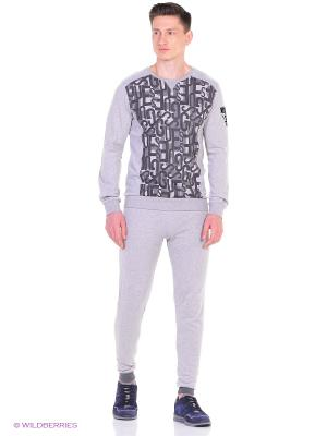 Комплект джемпер и брюки GUESS. Цвет: серый меланж