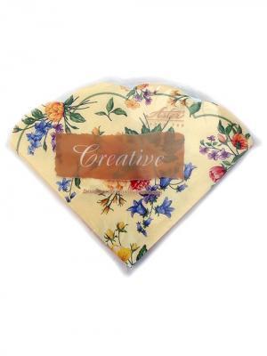 Салфетки Creative round 32х32 см, Весенние цветы, 3-слойные, 12 шт./уп Aster. Цвет: бежевый, голубой, желтый, зеленый, лиловый, розовый