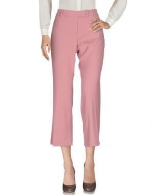 Повседневные брюки TRUE ROYAL. Цвет: пастельно-розовый