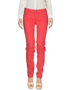 Повседневные брюки RA-RE. Цвет: коралловый