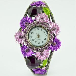Часы Страз  Минутка арт. ЧС-190 Бусики-Колечки. Цвет: фиолетовый