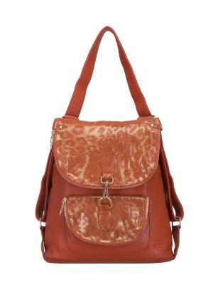Рюкзак женский Fika Montino. Цвет: рыжий