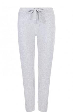 Однотонные хлопковые брюки с эластичным поясом Deha. Цвет: серый