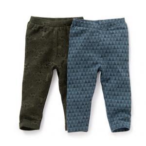 Комплект из 2 пар леггинсов на 1-36 месяцев R baby. Цвет: рисунок/зеленый + рисунок/синий