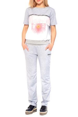 Костюм: кофта, брюки Majaly. Цвет: мультицвет