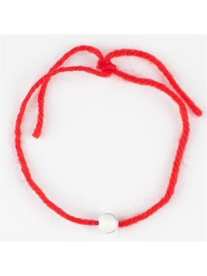 Браслет Красная нить турквенит Колечки. Цвет: белый