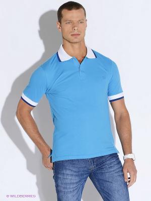 Футболка-поло Westrenger. Цвет: голубой