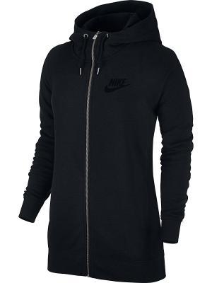 Толстовка W NSW MODERN HOODIE FZ Nike. Цвет: черный