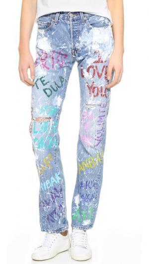 Джинсы-бойфренды I Love You Rialto Jean Project. Цвет: потрепанные