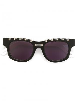 Солнцезащитные очки Ropey House Of Holland. Цвет: чёрный