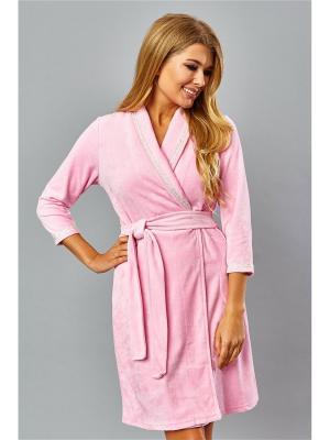 Халат банный AnGela. Цвет: розовый